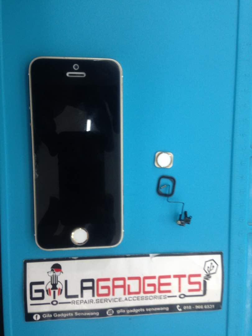 pretty nice 4881a 9c366 Home Button iPhone 5s Rosak | Gila Gadgets