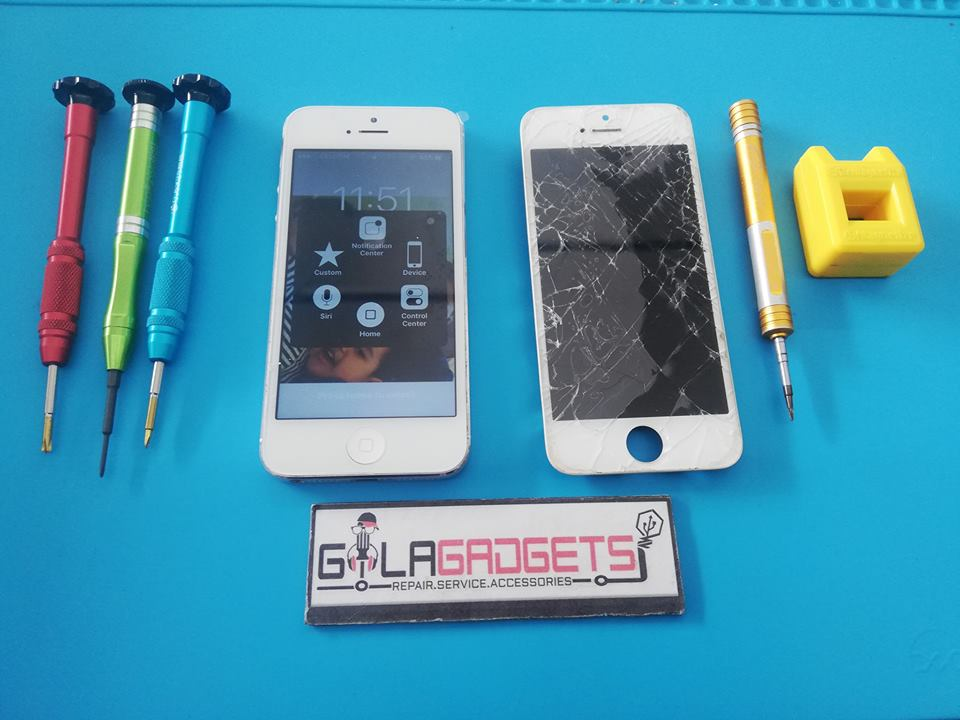 LCD iPhone 5 retak seribu – Senawang
