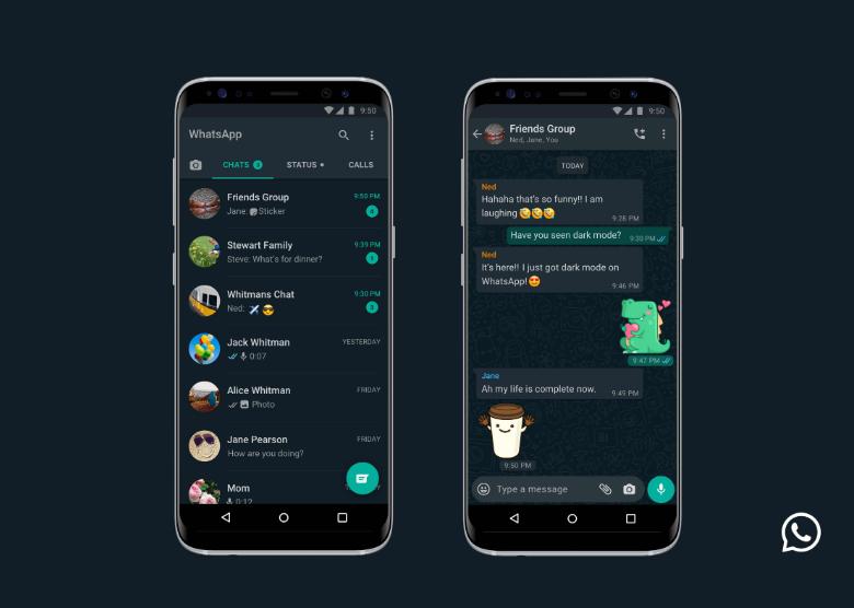 Pengguna Android dan iOs Kini Boleh Mengaktifkan Tema 'Dark Mode' Pada Aplikasi Whatsapp