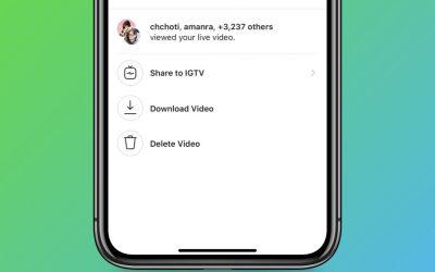Video Instagram Live Kini Boleh Disimpan Di IGTV
